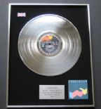 FOREIGNER - Agent Provocateur PLATINUM LP PRESENTATION Disc